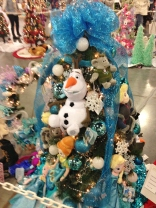 Erin's daughter participated in making this Frozen-themed tree.