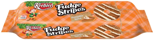 Kellogg Company Keebler Pumpkin Spice Fudge Stripes Cookies